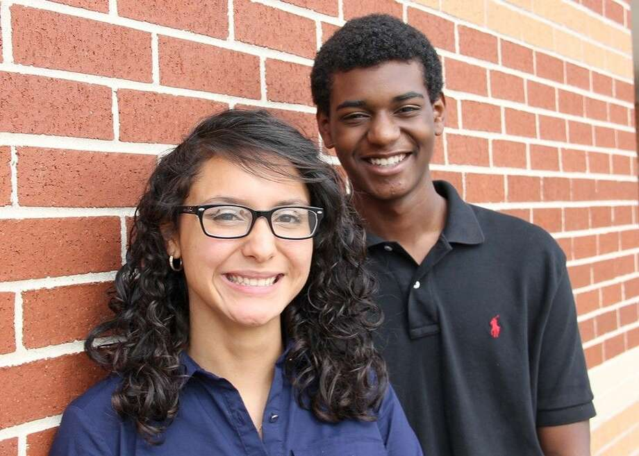 Turner College and Career High School students Yadira Huerta (left) and Malcolm Dawson were selected to participate in American Legion programs this summer.