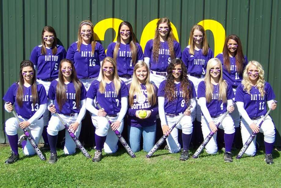This year's Dayton Lady Broncos were (front row, left to right) Christine Hard, Ravin Wilson, Meghan Casillas, Shelby Belt, Alicia Davila, Lindsey Harryman, Alexis Kimball, and in the back row, Anna Etling, Chelsea Hostetler, Dixie Verneuil, Presley Bell, Sarah Ashby and Shelbie Robbins.