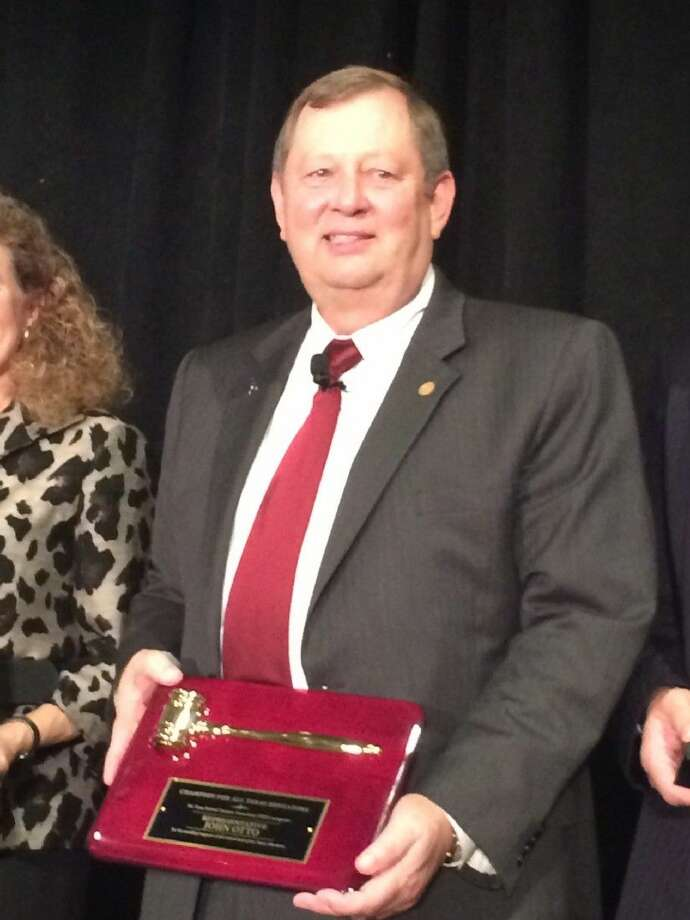State Rep. John Otto was named a Champion of Educators at the 62nd Annual Texas Retired Teachers Association convention. Otto represents District 18, which includes Liberty, San Jacinto and Walker counties. Photo: Submitted