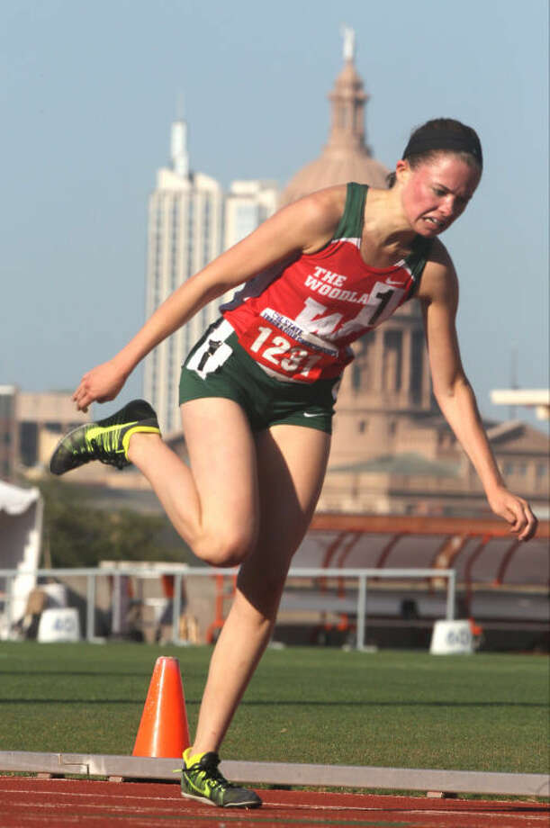 The Woodlands' Madi McLellan competes in the Class 5A girls 3,200 meter run during the UIL State Track and Field Championships at Mike A. Myers Stadium in Austin Saturday. To view or purchase this photo and others like it, visit HCNpics.com. Photo: Jason Fochtman