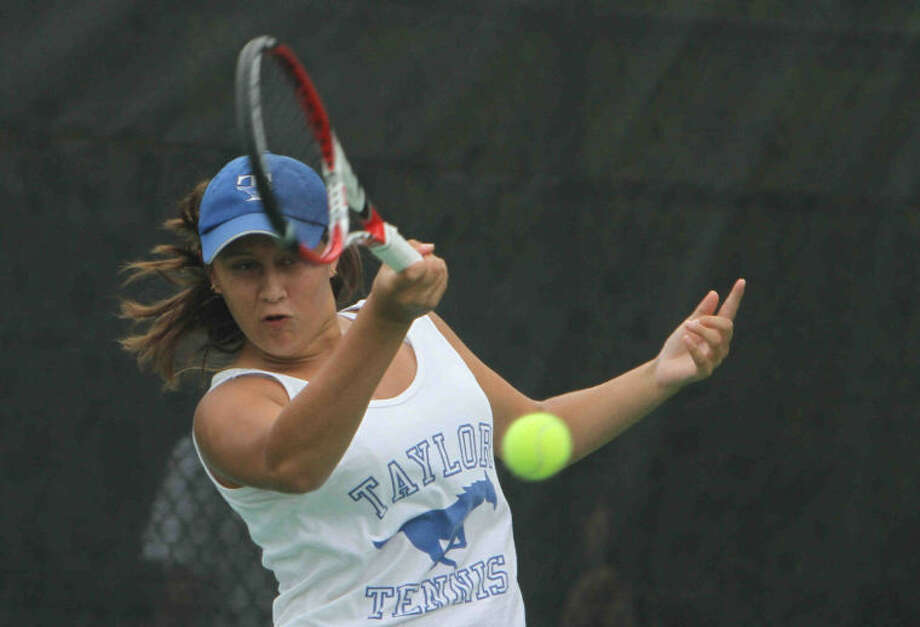 Taylor's Sofia Guerra, pictured at her second Class 5A state tournament, played for the Region III-6A championship April 22 in Deer Park. Photo: Staff Photo By Jason Fochtman