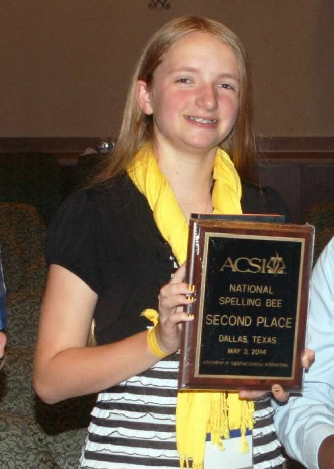 Gracie Walters of Magnolia recently won second place in the Association of Christian Schools International Spelling Bee. Photo: Submitted