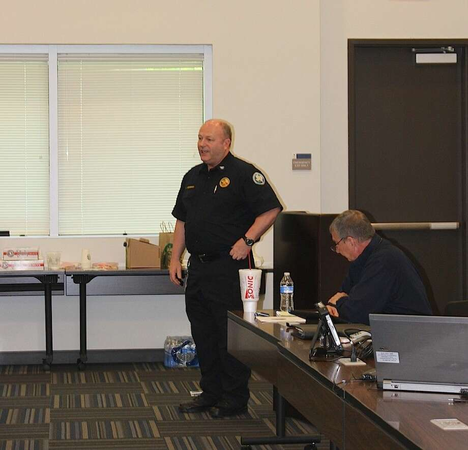 State Fire Marshal Chris Connealy welcomes attendees.