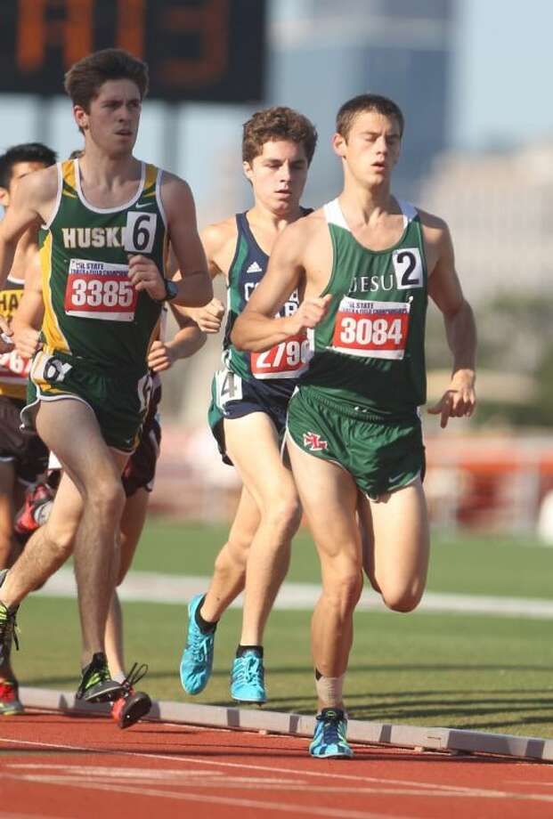 Strake Jesuit's Robert Ammons competes in the Class 5A boys 3,200 meter run during the UIL State Track and Field Championships at Mike A. Myers Stadium in Austin Saturday morning. Ammons competed in both the 3,200 and the 1,600-meter runs at the meet. Photo: Jason Fochtman