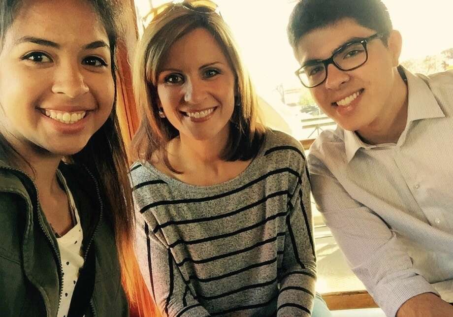 IMPACT Early College High School junior Adriana Rezal, Lee College Honors Program coordinator Georgeanne Ward and IMPACT Early College High School junior Siavash Zamirpour at the National Conference on Undergraduate Research, held April 16-18, 2015, at Eastern Washington University.