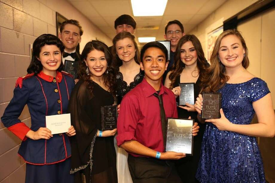 Cypress Ranch High School senior Rebekah Stanley, second from right, was awarded a $3,000 scholarship from Theatre Under the Stars at the 13th annual Tommy Tune Awards on April 21. (Photo courtesy @tutshouston)