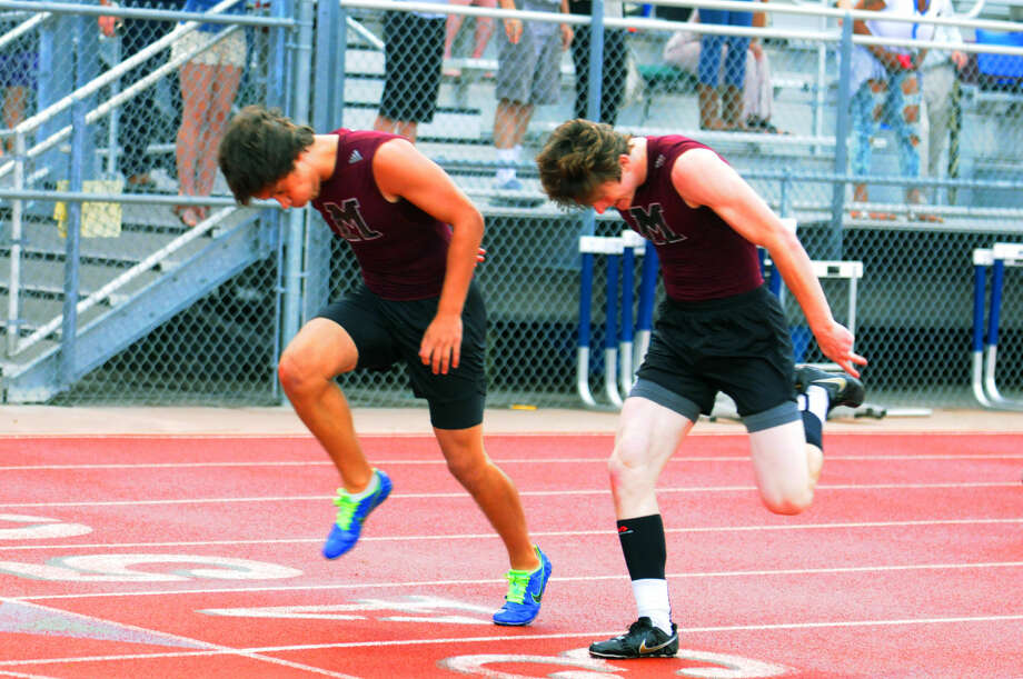 Magnolia's Paris Foster and Drew Hantla qualified for the Region III-5A Track & Field Championships in both the 110 M Hurdles and the 300 M Hurdles.