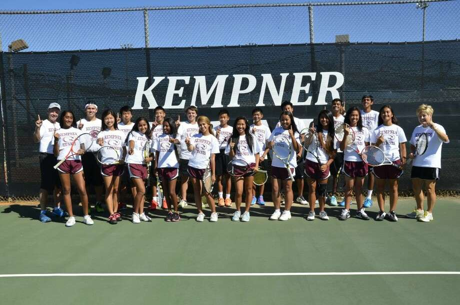 The Kempner tennis team made school history by winning the District 23-6A championship during the fall. Photo: Submitted Photo