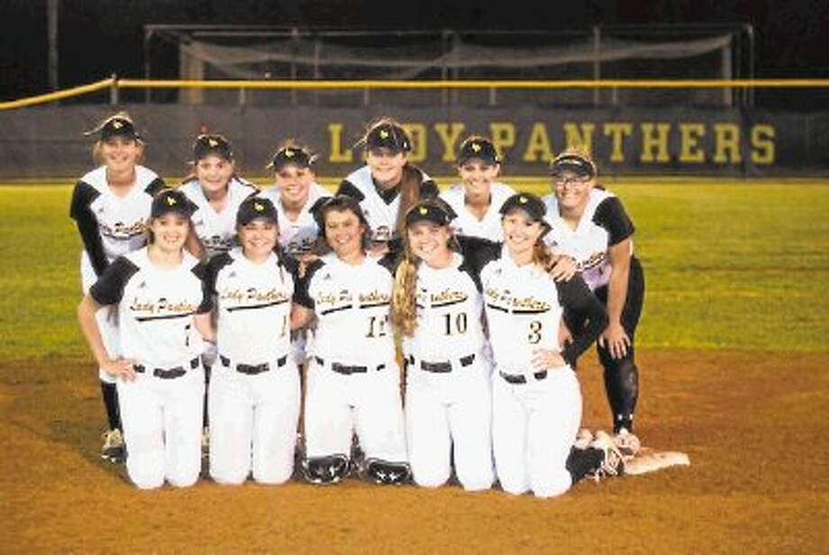 This year's Liberty Lady Panthers were, front row left to right, Madison Cook, Andee Geter, Kaylee Parker, Katie Harris, Madisyn Frazier, and back row, Caroline Moorman, Kamryn Parker, Kaitlyn Slack, Kurstin Martin, Lacey Vaughn and Macy Tanton. Photo: CASEY STINNETT / Houston Community Newspapers, 2014