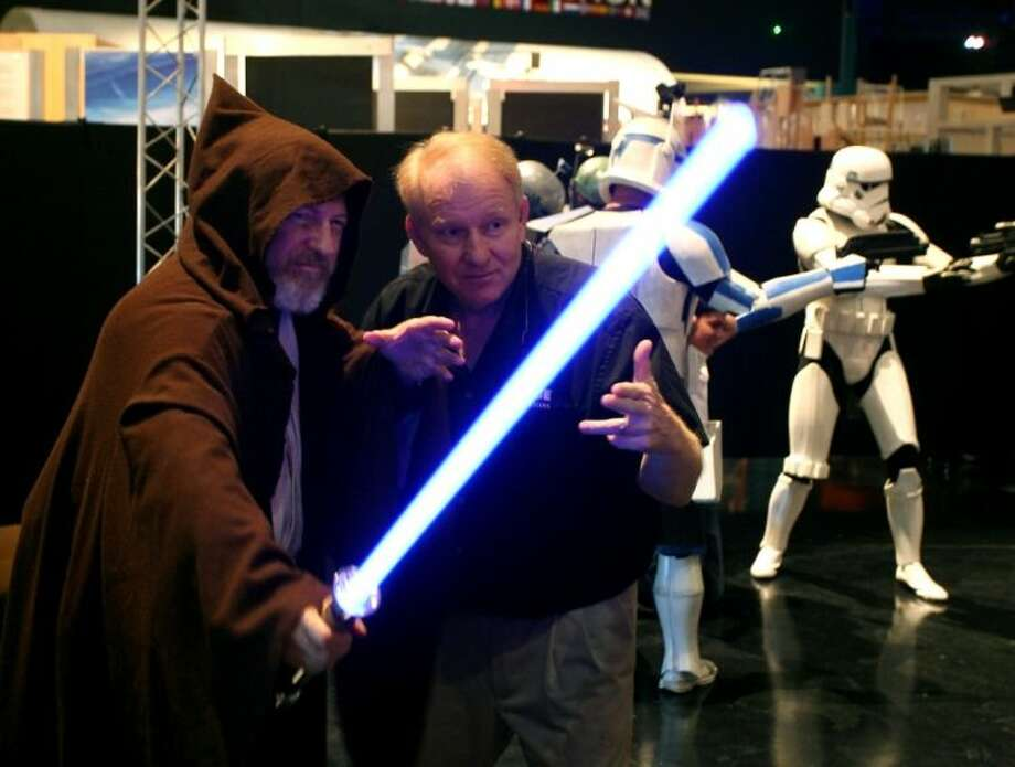 """Visitors to Space Center Houston were treated to a Star Wars actors Sunday as part of May 4th, """"Star Wars Day"""". Photo: Kar B Hlava"""