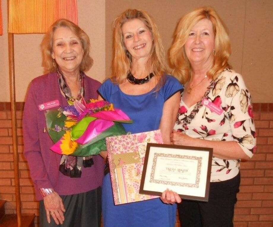 (L-R) Milly Smith, Woman of the Year Valerie Langdon and Jo Butterfield. Photo: Submitted Photo
