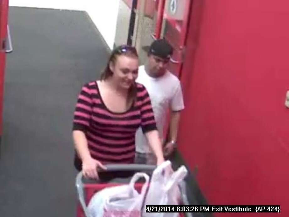 Pasadena police area asking the public's help in finding the two suspects in the photo for their alleged involvement in the robbery of a pizza delivery driver in Pasadena. The photos of the suspects were obtained by Dickinson police.