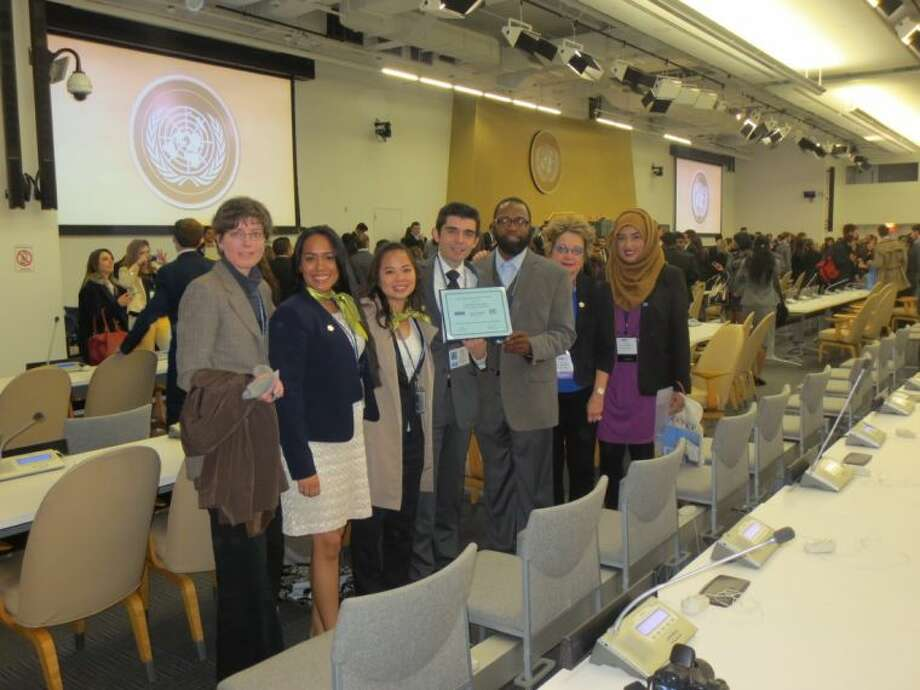 Lone Star College-North Harris students recently participated, along with 5,000 peers from six continents, in the 2014 National Model United Nations-NY (NMUN-NY) conference in New York City. Photo: Submitted Photo