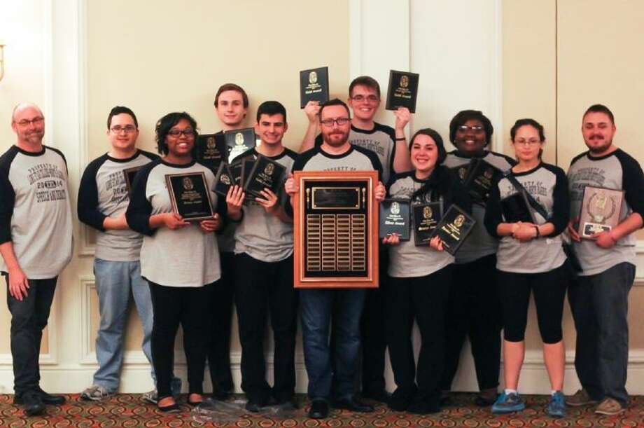 The Lone Star College-North Harris competitive speech and debate team continued their tradition of success by winning the 2014 Silvia Mariner's Perpetual Sweepstakes Award at this year's Phi Rho Pi National Speech Tournament. Photo: Submitted Photo