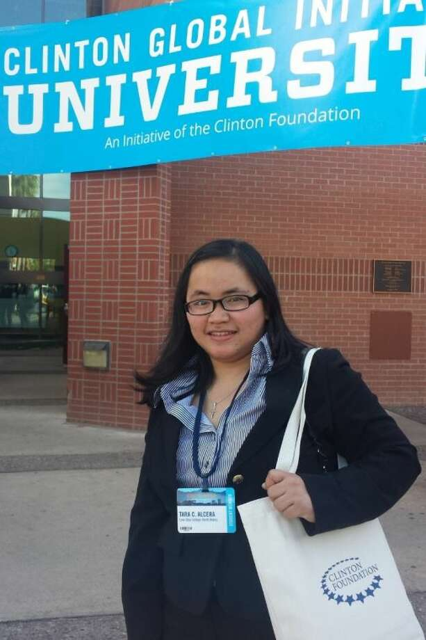 Lone Star College-North Harris student Tara Alcera, recently attended the prestigious Clinton Global Initiative University Conference (CGI U) at Arizona State University, where she represented a health education project that she and her high school classmates created in the southern Philippines.