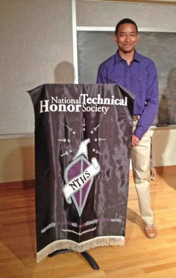 Cypress Falls High School senior Fredrick Cramer was the first member of the Cypress Falls National Technical Honor Society Chapter to be selected as a scholarship recipient. Photo: Submitted Photo
