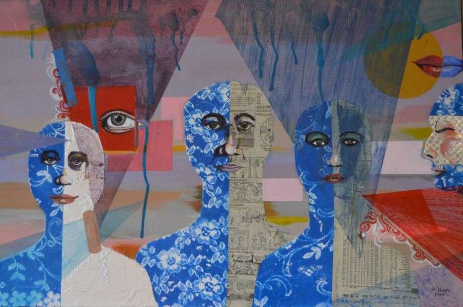 Family - a Mixed Media on Canvas by Al Nash.