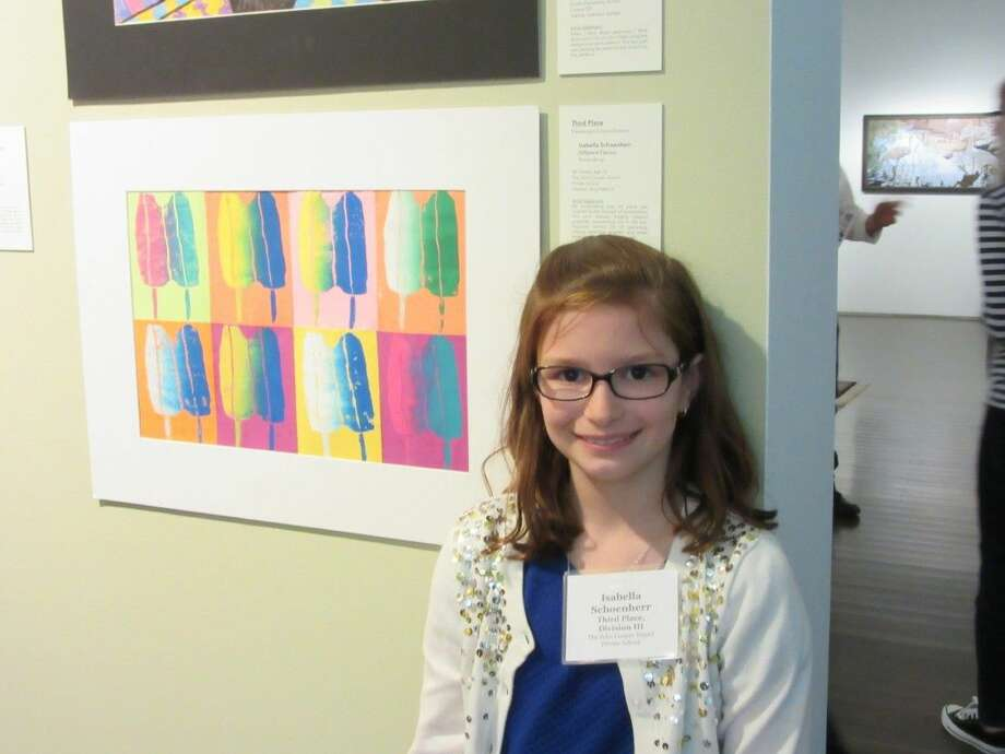 "Isabella Schoenherr, third place winner in Division III. She attends fourth grade at The John Cooper School and her teacher is Amy Dietrich. The title of her artwork is ""Different Flavors."""