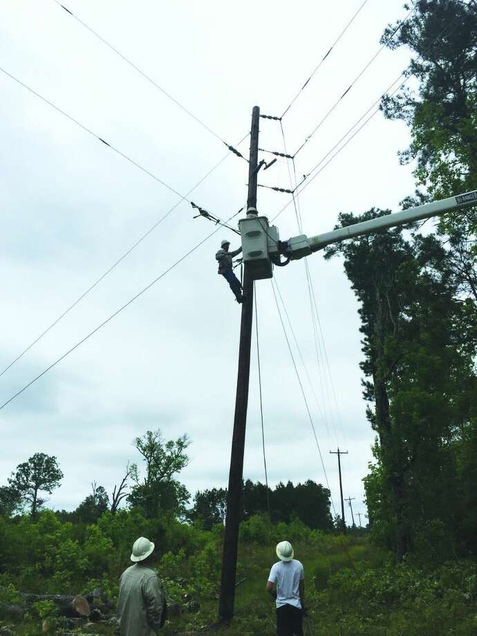 Power has been restored to 24,000 Sam Houston EC customers that were without power following the April 27 storm. Photo: Submitted
