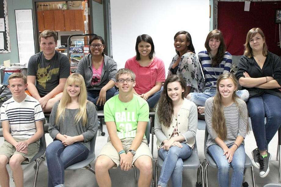 Cy-Fair High School students won several awards in the Press Women of Texas Edith Fox King 2015 High School Journalism Contest. Pictured (front row, L-R) are Ryan Steppe, Julia Ryza, Will Davis, Natalie Berry and Harper Neitzey; and (back row) Cody Brown, Esmeralda Harvey, Emme Enojado, Kaylin Jones, Valerie Parker and Gillian Lane.