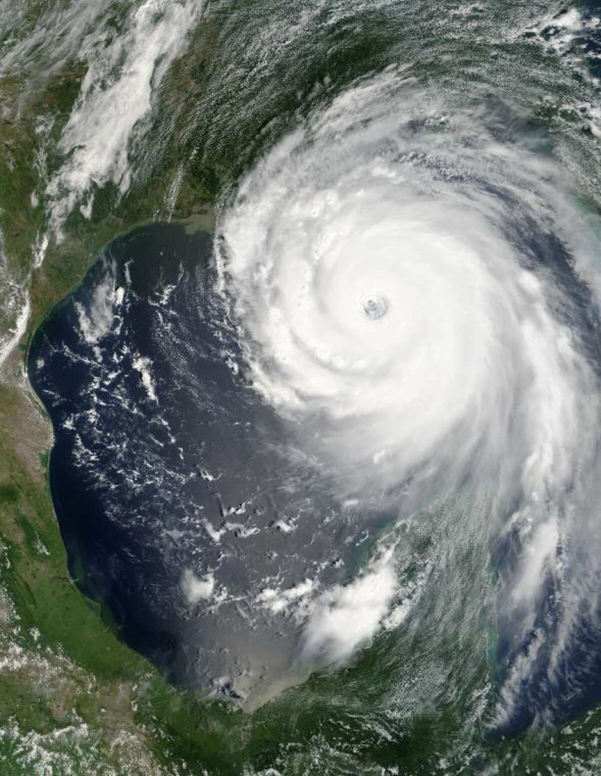 A NASA image of Hurricane Katrina on Aug. 28, 2005.