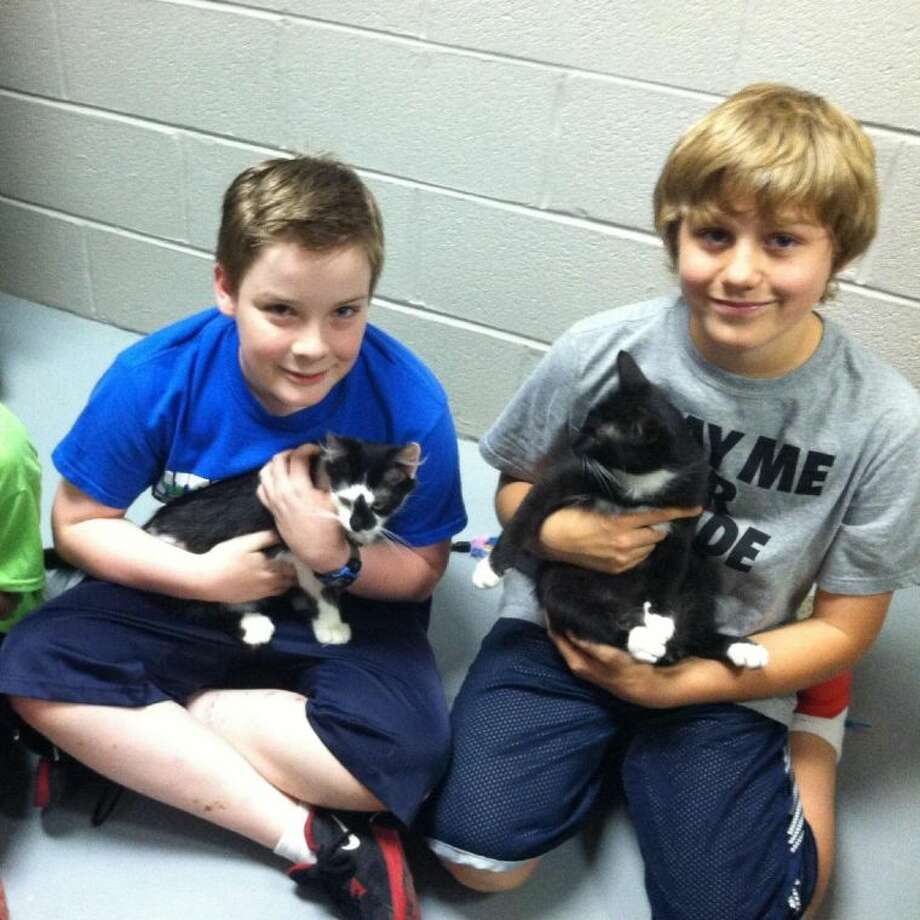 Sam Dunphy-Miller and Justin Roberts donation project. The two Westwood Bales students wanted to do something that would help animals. They decided to set up a program to accept donations for the Friendswood Animal Control Shelter.