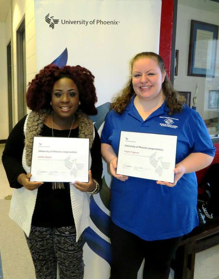 Houston residents Ashley Shields and Angela Tragesser have recently been awarded a full-tuition scholarship to University of Phoenix. They are two of 30 recipients nationwide to receive a full-tuition scholarship from Boys and Girls Clubs of America and University of Phoenix to complete an undergraduate or master's degree.