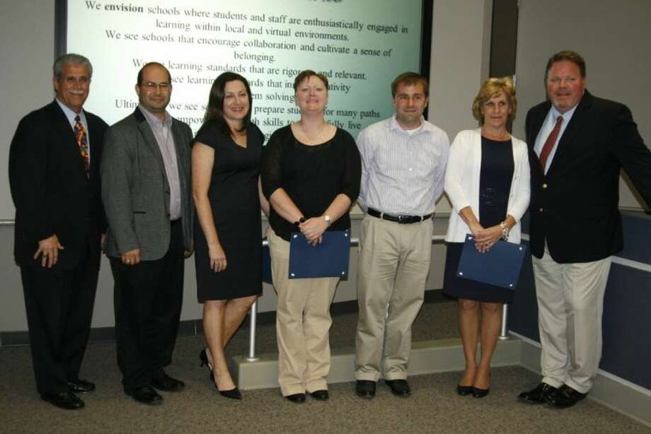 The following were recognized at the Humble ISD May 13, 2014 board meeting for their quick and decisive action to save a student Karen Gorgol, Sara Hansen, Eddie Palomarez, Brandon Rayne and Karen Schoenfeld for their quick and decisive action to save a student who collapsed at Summer Creek High School.