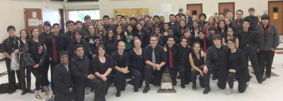 Porter High School band students recently traveled to Dobie High School to compete in the Region 20 UIL Concert and Sight Reading Contest. Photo: Submitted Photo