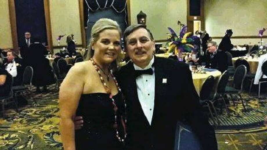 by District Governor Lisa Faith Massey with Charlie Buscemi at the 2015 Rotary District Conference in New Orleans on Saturday, April 18, 2015.