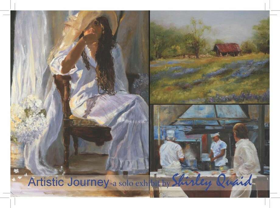 "Local artist Shirley Quaid will host a solo exhibition, ""Artistic Journey"" at Red Palette Art Center."