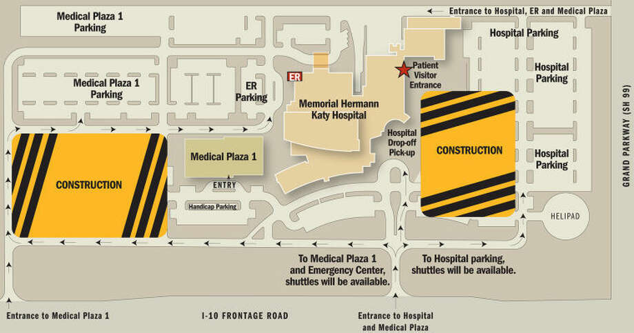 Map of construction at Memorial Hermann Katy Hospital Photo: Courtesy Of Memorial Hermann