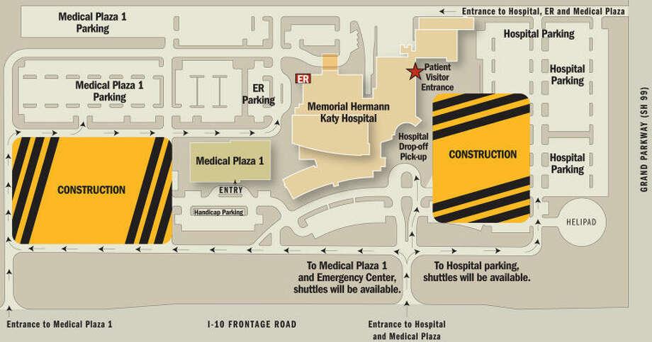 Map of construction at Memorial Hermann Katy Hospital Photo: Courtesy Of Memorial Hermann