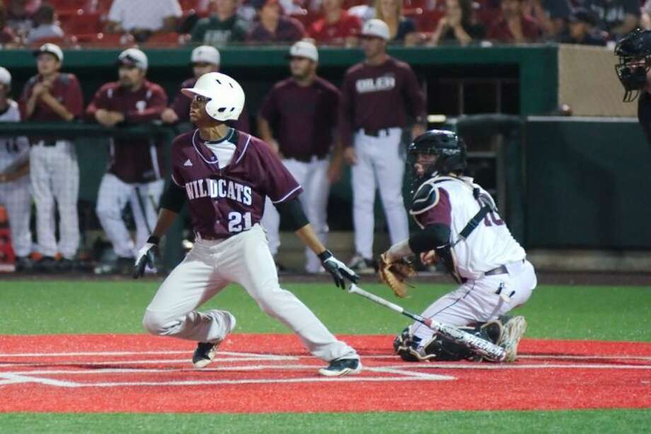 Clear Creek's Satchel McElroy (21) had two hits in game two in helping lead the Wildcats to an 8-3 win over Pearland to force at deciding game three at 1 p.m., today at the University of Houston. Photo: KIRK SIDES