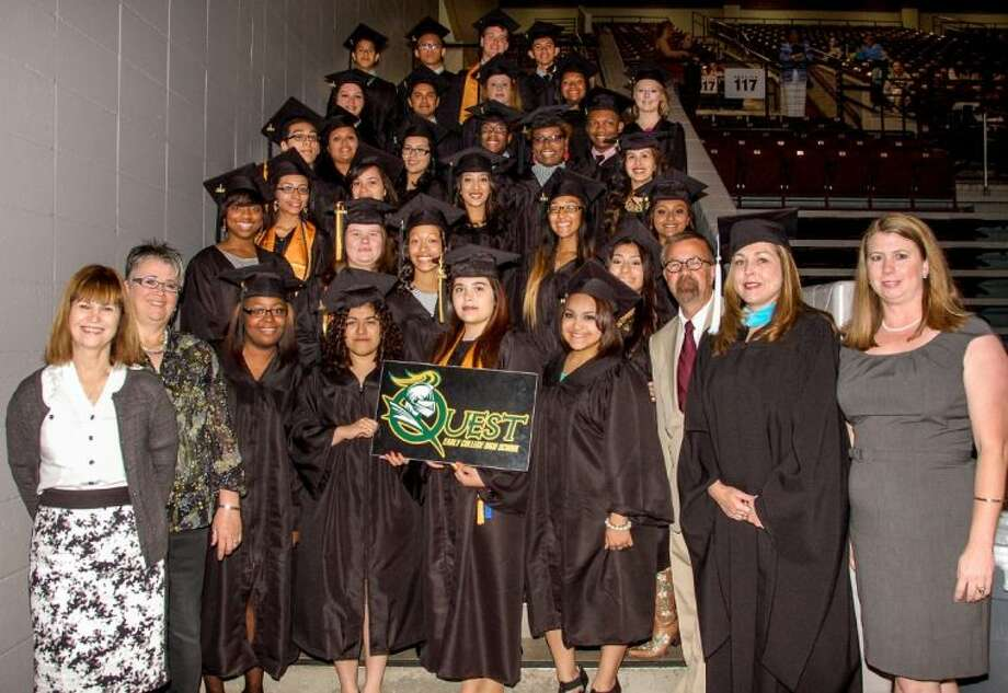 Thirty-nine Quest Early College High School students conferred their Associate's Degrees on Saturday, May 10 as members of QECHS's first graduating class.