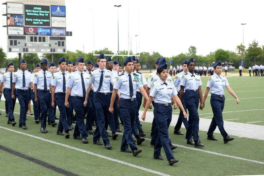 The 13th annual Cypress-Fairbanks ISD JROTC Pass in Review, showcasing the discipline of district cadets, will be held April 18 at the Berry Center. Photo: Submitted Photo
