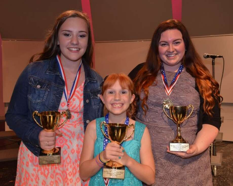 Pictured (l to r) Seabrook Intermediate's Madison Dishaw, Bauerschlag Elementary School's Kimberly Trevino and Clear Falls High School's Maddie Baillio. Photo: Clear Creek ISD Office Of Commun
