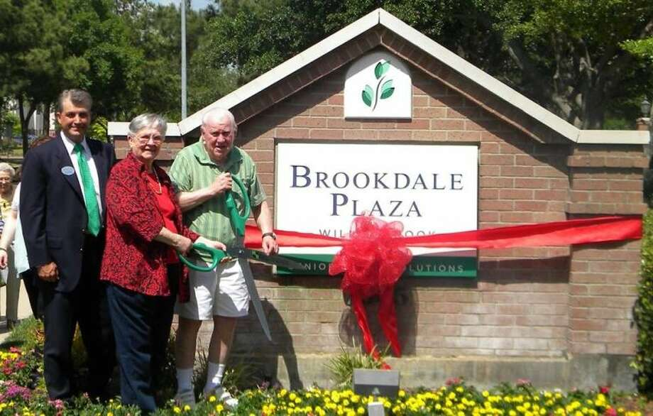 Brookdale Plaza, formerly the Terrace at Willowbrook, holds a ribbon cutting in recognition of its new as part of the company's re-branding process.