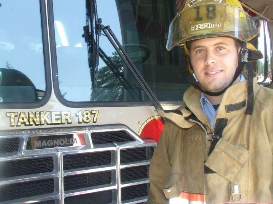 Blake Robison, a 24-year old volunteer firefighter, began volunteering for the Magnolia Volunteer Fire Department in high school.