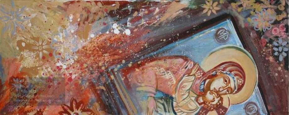 "Artist: Nicholas Papas; Title: Nave. (2014); Medium: Acrylic on canvas (31"" x 57"") Photo: Submitted Photo"