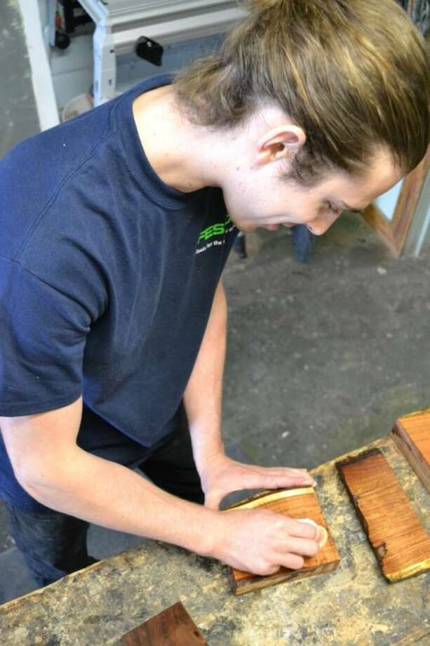 Artisan Wyatt Little uses eco-friendly finishes for his exhibit in Friday's Fallen Timber show at Made at New Living.