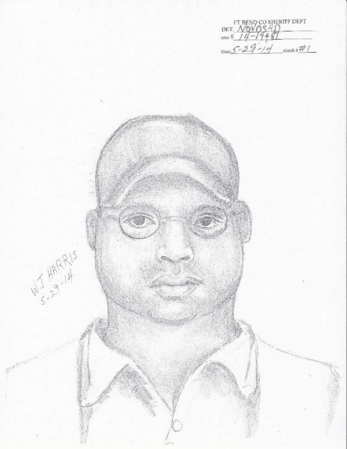 A composite sketch of one of the three suspects wanted for an aggravated robbery/home invasion in Fort Bend on Sunday, May 25.