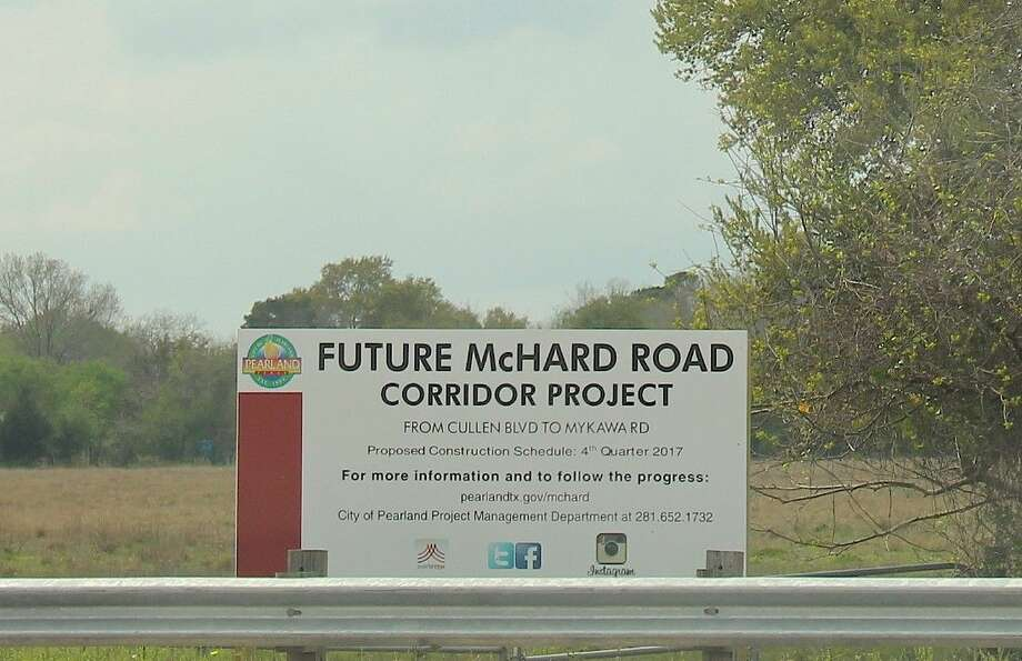 The proposed project would extend McHard Road from Cullen to Mykawa.