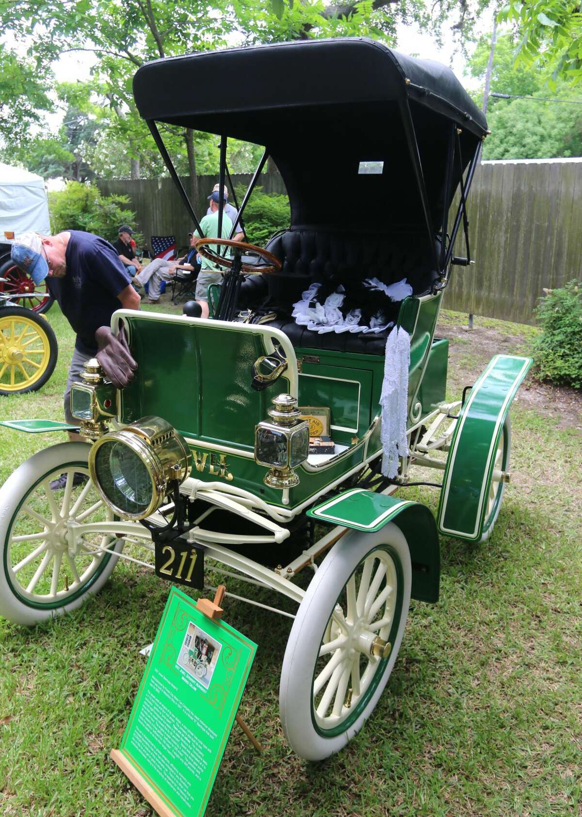 This 1907 Jewel Stanhope Model E was just one of the many cars and boats on display at Keels & Wheels Concours d'Elegance.