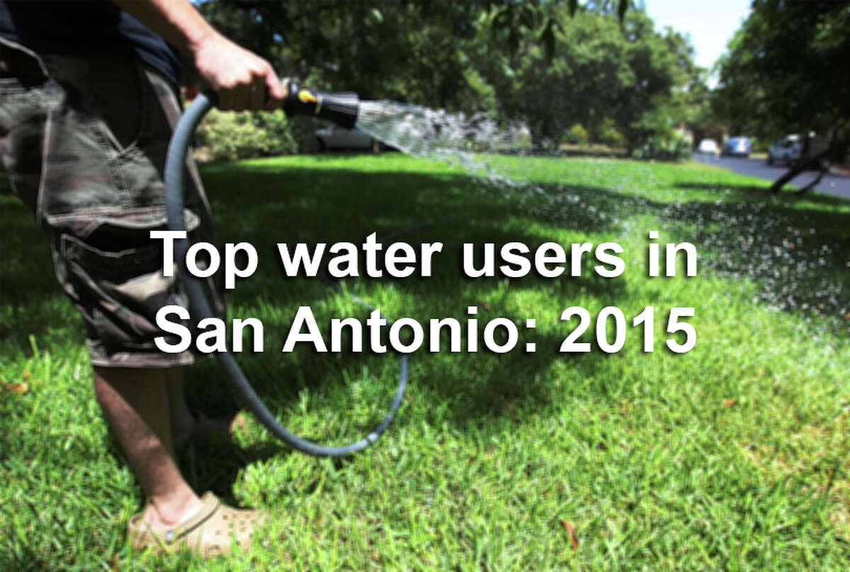 As South Texas recovered from a brutal drought, San Antonio's top water user in 2015 nearly hit the 2.5 million gallon mark.