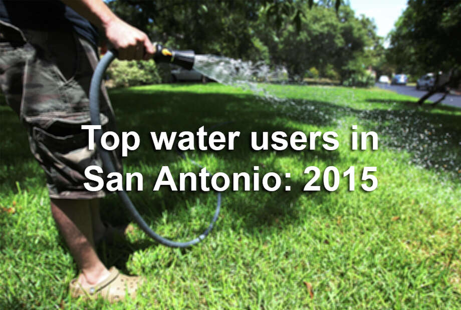 As South Texas recovered from a brutal drought, San Antonio's top water user in 2015 nearly hit the 2.5 million gallon mark. / ©2013 San Antonio Express-News