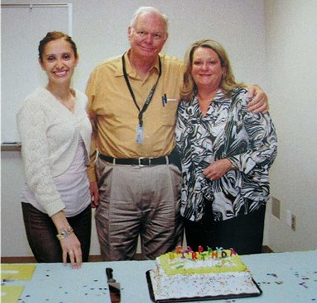 Fred King with District Clerk's Disbursement Officer Araceli Carizales and Civil Bureau Director Debbie Bucko.
