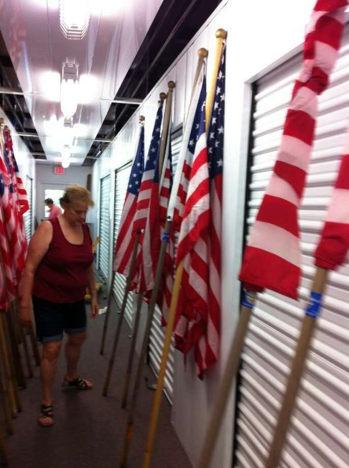 Kingwood Rotary Club members spent this past weekend inspecting their flags ahead of the Fourth of July holiday.