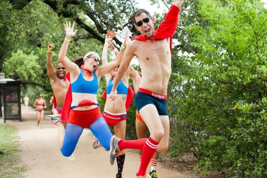 A Rice Village running club shows that undies are super cool during the Hot Undies Run, which will be June 28.