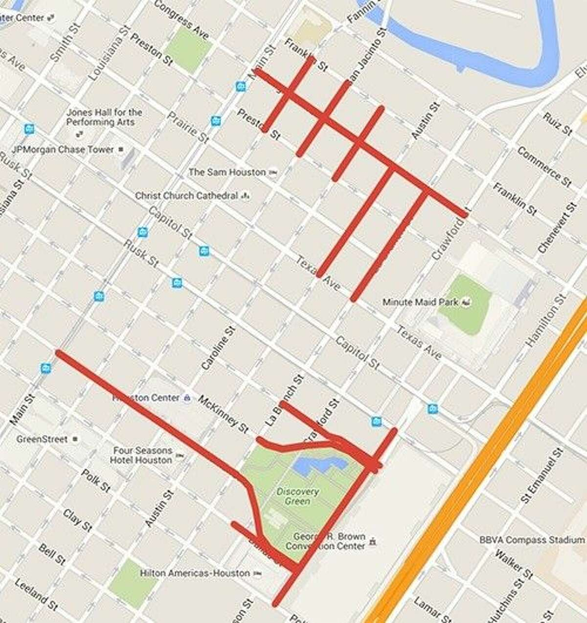 For those residents going into the city this weekend, be aware of possible road closures due to the 2016 Chevron Houston Marathon/Aramco Houston Half-Marathon.